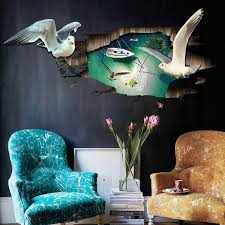 Xh 9216 3d Stereos Wall Sticker Cartoon Seagulls Wall Stickers For Kids Room Living Room Background Decorative Wall Sticker Wall Art Quotes Stickers Wall Art Sticker From Fst1688 9 04 Dhgate Com