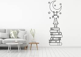 Book Kids Vinyl Wall Decal Books Quote Reading Room Library Etsy