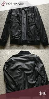pacsun legendary goods leather jacket