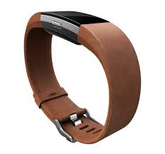 fitbit charge 2 leather brown l band