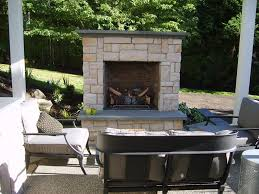 gas outdoor fireplace small outdoor