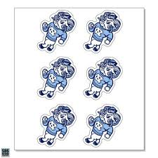 Unc Strutting Ram Vinyl Decals Pack Of 6 Ultimate Sports Apparel