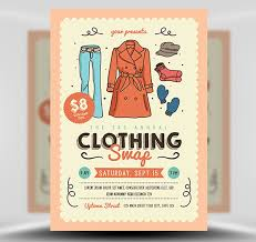 clothing swap free psd flyer template