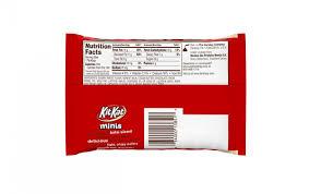 kit kat white snack size calories لم