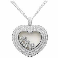 extra large 18k white gold heart