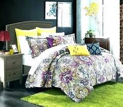 purple and green comforter