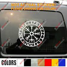 Viking Odin Raven Decal Sticker Norse Norway Norwegian Car Vinyl Runic Circle