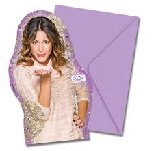 6 Tarjetas De Invitacion Violetta Gold Edditions 9 X 14 Cm Party Es