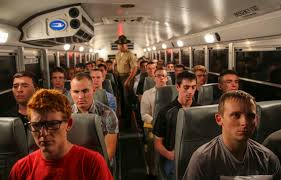 Image result for marine sergeant on bus