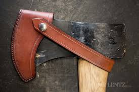 how to make a leather axe sheath part