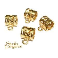 14k gold filled large pendant bail