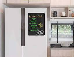 Amazon Com Yttbuy Fridge Chalkboard Include 2 Chalk Markers Vinyl Chalkboard Memo Chalkboard Notepad For Refrigerator Kitchen Home Kitchen