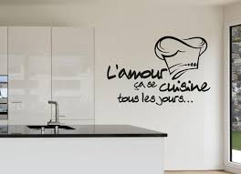 Cuisine Vinyl Decal Chef Wall Decor Kitchen Happy