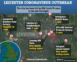 coronavirus-hit Leicester where locals ...