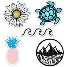 Amazon Com Cute Vinyl Laptop And Water Bottle Decal Sticker Pack Made In Us Ocean Beach Computers Accessories