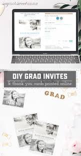 diy graduation invitations and thank