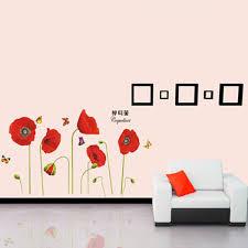 Buy Corn Poppy Butterflies Wall Sticker Art Diy Home Decoration Bazaargadgets Com