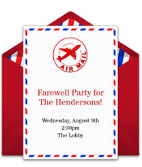 free farewell party invitations