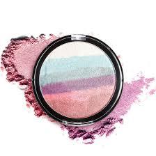 makeup rainbow shimmer matte