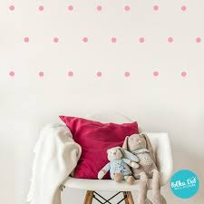 2 Two Inch Polka Dot Wall Decals Peel Stick Polka Dot Wall Stickers