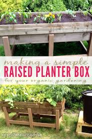 raised planter box for the garden