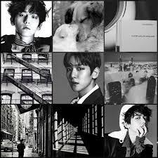 black and white baekhyun kpop exo xiumin suho yi