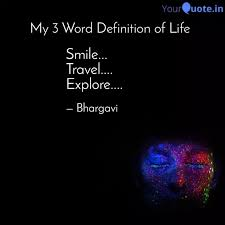 smile travel explo quotes writings by bhargavi