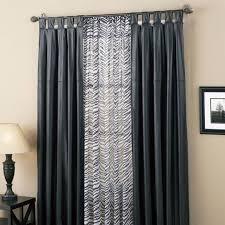 faux leather black zebra curtains