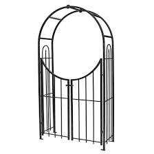 Panacea Triple Arch Finial Fence Black Garden Patio Fence Panels Dl Zip Net