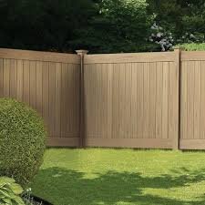 Veranda Linden 6 Ft H X 8 Ft W Cypress Vinyl Privacy Fence Panel Kit 73014524 The Home Depot Privacy Fence Panels Fence Gate Design Vinyl Fence Panels