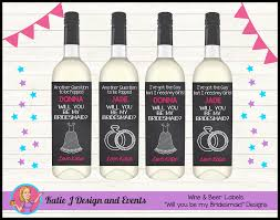 shop online personalised will you be my bridesmaid wine bottle