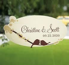 Wedding Clings Wedding Window Clings Personalized Window Clings