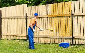 How To Stain A Fence With A Pump Sprayer Brush Roller Painterscare
