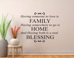Family Home Blessing Wall Decal Wall Decal Wall Art