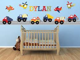 Transportation Construction Dump Truck Airplane Wall Stickers Etsy Nursery Wall Decals Boy Nursery Wall Decals Custom Vinyl Wall Decals