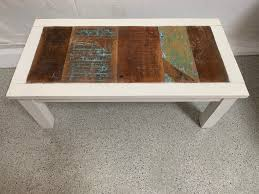 reclaimed timber coffee tables side
