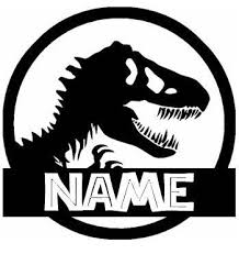 Amazon Com T Rex Jurassic Park Custom With Your Name Black Vinyl Decal Art Wall Sticker Car Usa 14 Jurassic Park Jurassic Park Birthday Jurassic Park Party