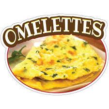 Omelettes Decal Concession Stand Food Truck Sticker Walmart Com Walmart Com