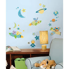 Roommates 10 In X 18 In Rocket Dog 51 Piece Peel And Stick Wall Decals Rmk2163scs The Home Depot