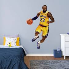 Lebron James Los Angeles Lakers Fathead Life Size Removable Wall Decal