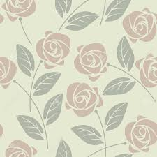 Elegante Diseno Inconsutil Con Elegantes Rosas Y Hojas Perfecto