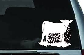 Amazon Com Picniva Cow Sty3 Car Vinyl Decal Sticker Laptop Ipad Window Wall Truck Motorcycle Automotive
