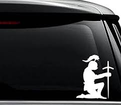 Knight Kneeling Vinyl Decal Car Window Bumper Sticker
