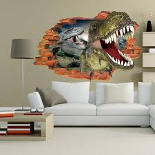 3d Dinosaurs Eyes Large Wall Stickers Jurassic Park Poster Kids Bedroom Decor Rooms Home Decor Kids Wall Decals