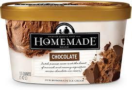 chocolate homemade brand ice cream