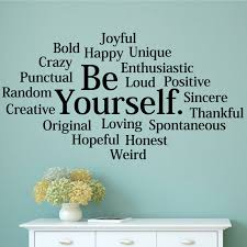 Gracie Oaks Be Yourself Wall Decal Reviews Wayfair