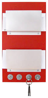 modern wall mount double wood mail