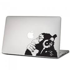 Banksy Monkey With Headphones Laptop Macbook Vinyl Decal Sticker