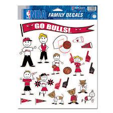 Chicago Bulls Family Car Decal Set