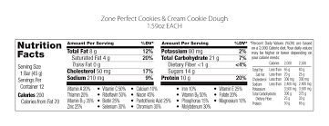 zoneperfect nutrition bar cookies